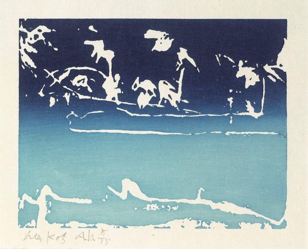 Gravure Sur Bois Katz - Coleman Pond III