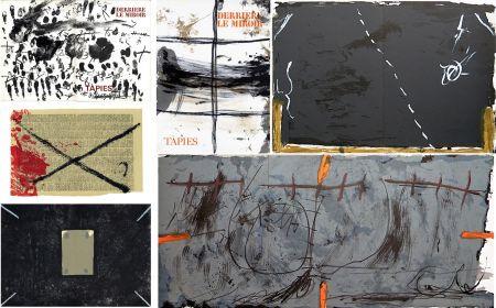 Livre Illustré Tapies - COLLECTION COMPLÈTE des 7 volumes de la revue DERRIÈRE LE MIROIR consacrés à Antoni Tàpies: 30 LITHOGRAPHIES (de 1967 à 1982).