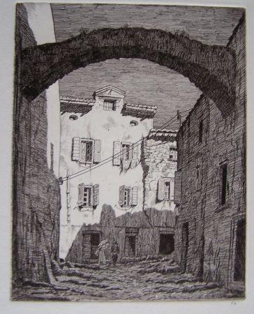 Gravure Strang - Collioure