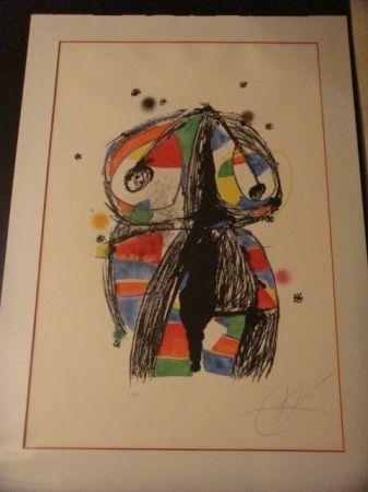 Lithographie Miró - Colombine aux idees noires