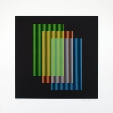 Lithographie Cruz-Diez - Color aditivo Ramblas 1963-2011