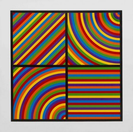 Linogravure Lewitt - Color Bands #2