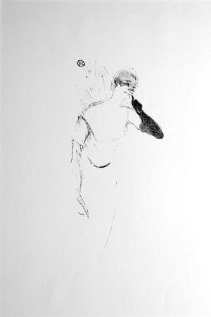 Lithographie Toulouse-Lautrec - Columbine à Pierrot