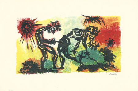 Lithographie Lurcat - Combat