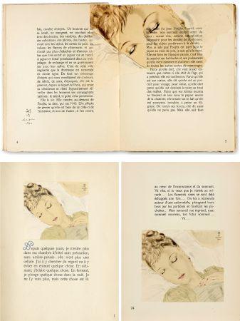 Livre Illustré Foujita - COMBAT AVEC L'IMAGE. (J. Giraudoux) Avec un dessin de Foujita (1941).