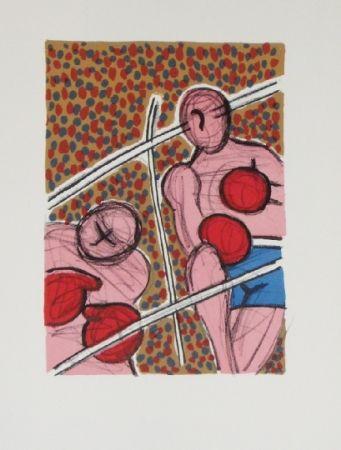 Lithographie Corneille - Combat I