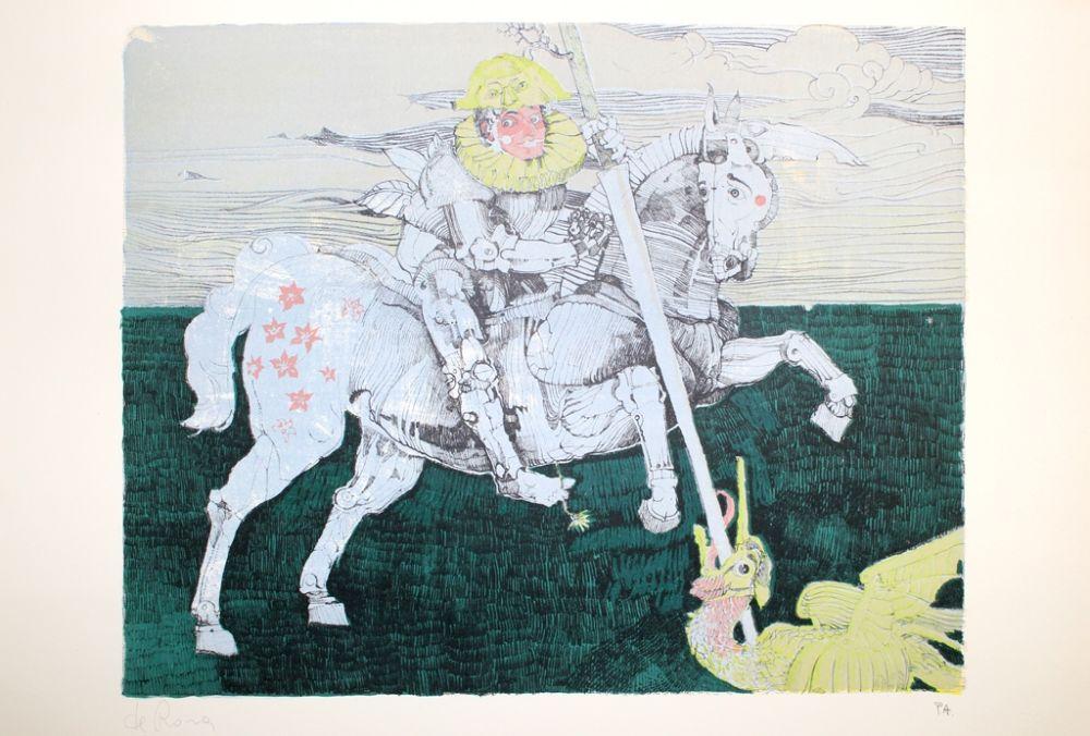 Lithographie De Rosa - Combattente