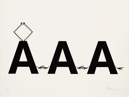 Lithographie Brossa - Comboi