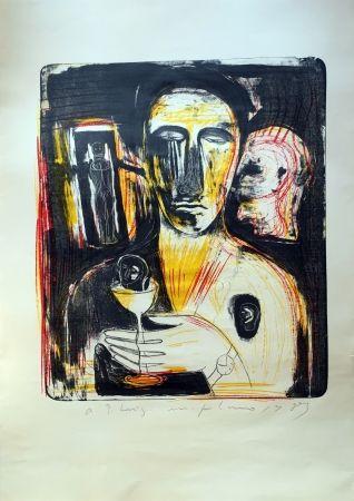 Lithographie Paladino - Come in uno specchio