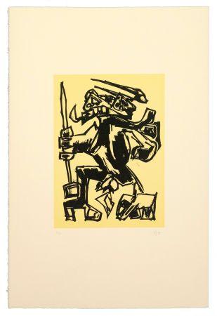 Linogravure Saura - Como el toro, he nacido Para el luto...
