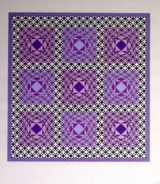 Sérigraphie Vasarely - Complication