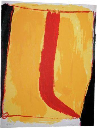 Sérigraphie Guerrero - Composición en amarillo y rojo