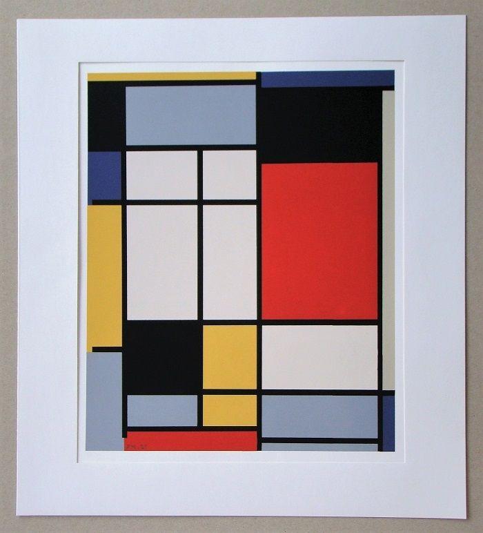 Sérigraphie Mondrian - Compositie - 1921