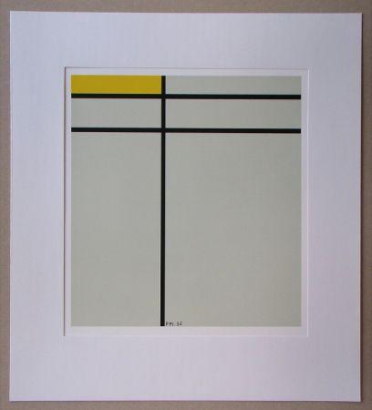 Sérigraphie Mondrian - Compositie met geel - 1935
