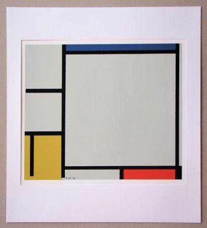 Sérigraphie Mondrian - Compositie met rood, geel en blauw - 1922