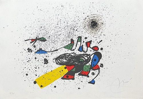 Lithographie Miró - Composition