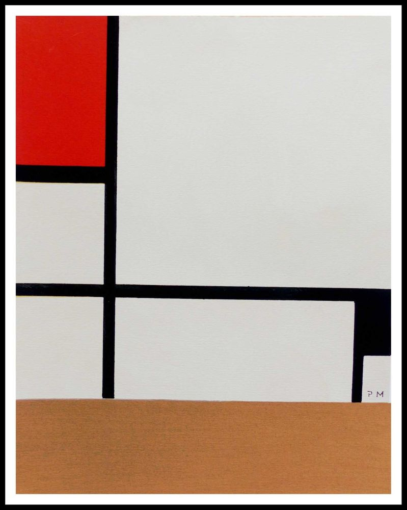 Pochoir Mondrian - COMPOSITION