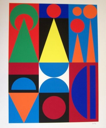 S rigraphie de auguste herbin composition sur amorosart for Auguste herbin oeuvre