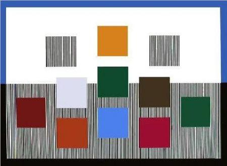 Sérigraphie Soto - Composition