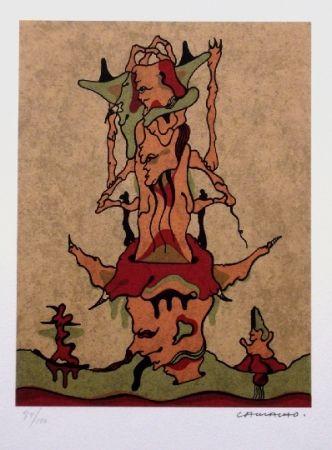 Lithographie Camacho  - Composition