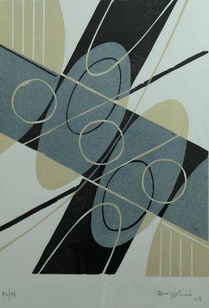 Lithographie Bozzolini - Composition