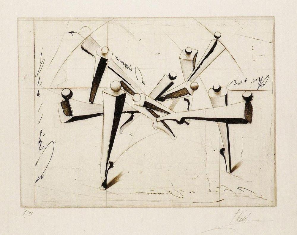 Gravure Kahn - Composition
