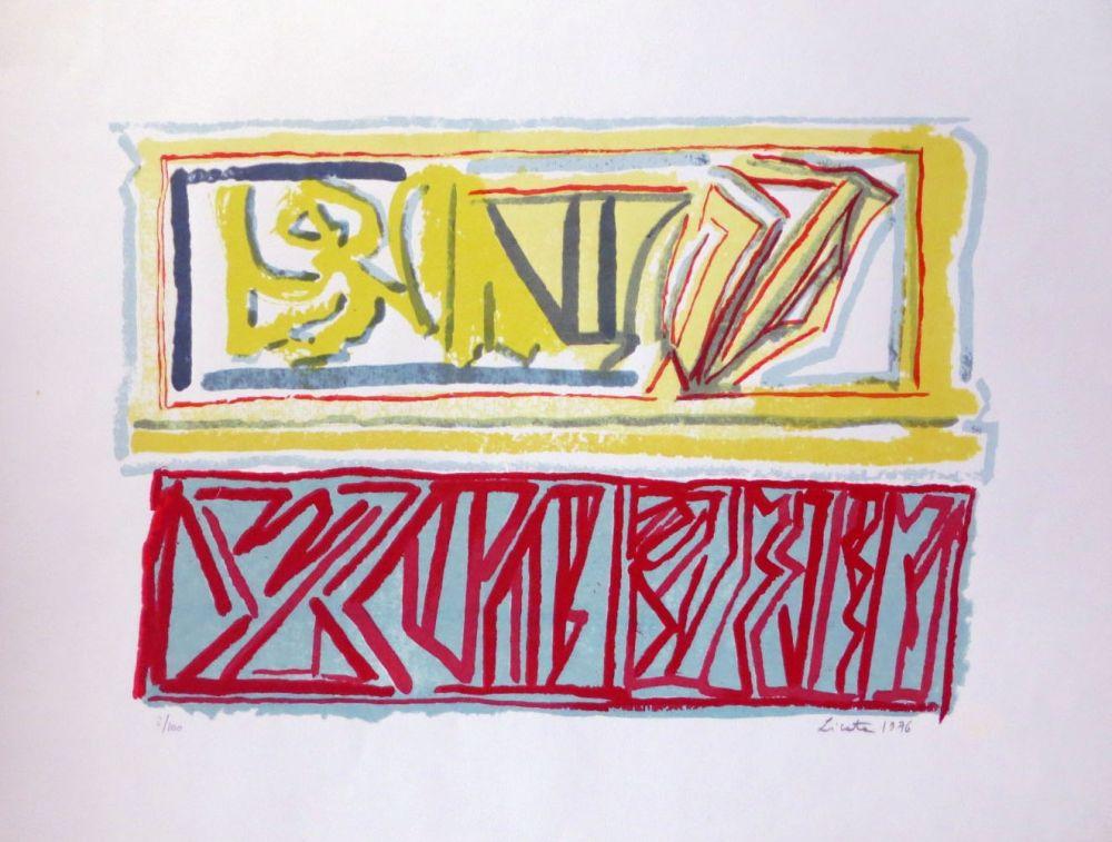 Lithographie Licata - Composition