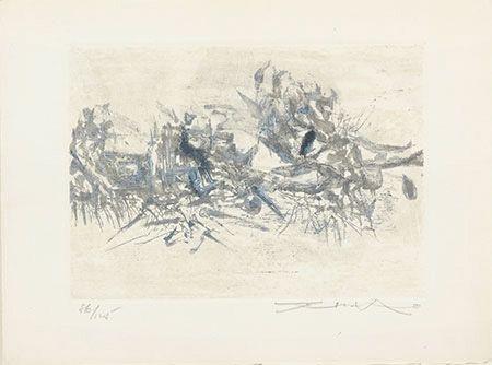 Gravure Zao - Composition