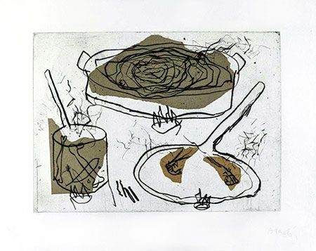 Gravure Barcelo - Composition