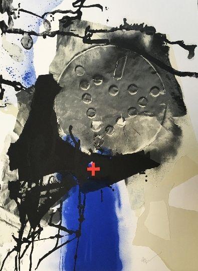 Lithographie Clavé - Composition