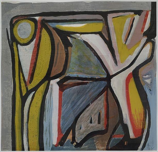 Lithographie Van Velde - Composition