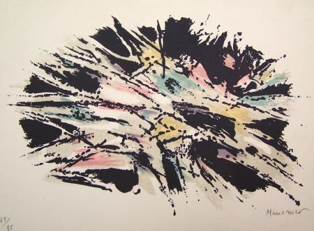 Lithographie Manessier - Composition