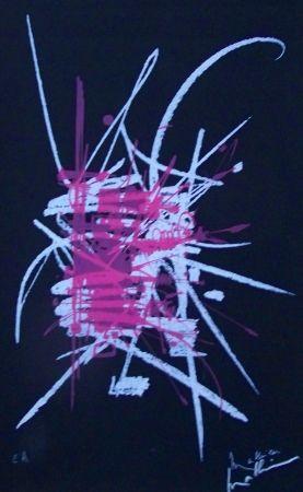 Lithographie Mathieu - Composition