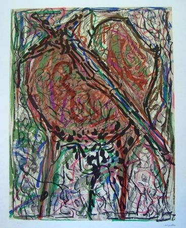Lithographie Riopelle - Composition