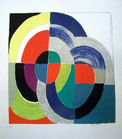 Lithographie Delaunay - Composition