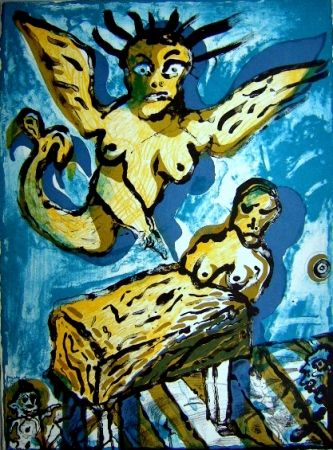 Lithographie Lucebert - Composition