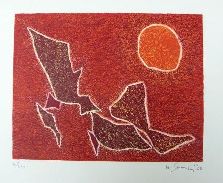 Lithographie Singier - Composition