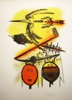 Lithographie Lam - Composition
