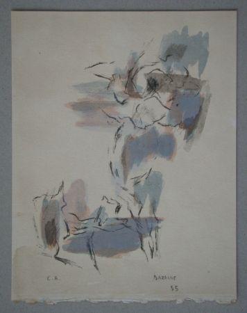 Lithographie Bazaine - Composition