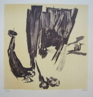 Lithographie Gastaud - Composition