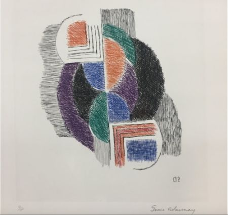Gravure Delaunay - Composition