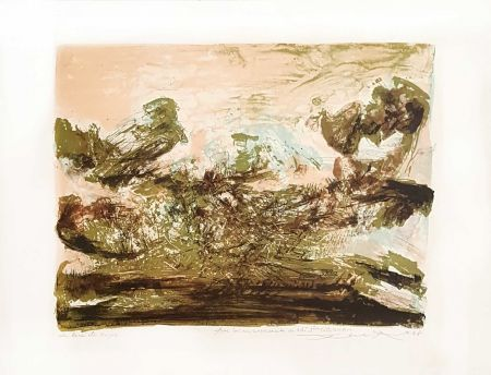 Lithographie Zao - Composition