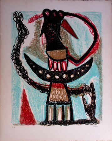 Lithographie Atlan - Composition