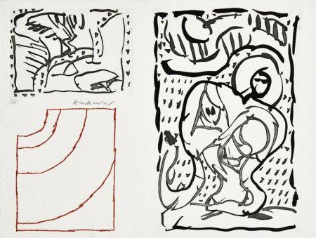 Gravure Alechinsky - Composition