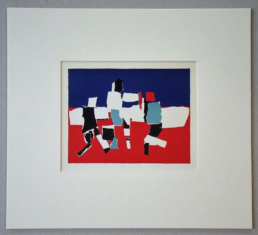 Lithographie De Stael - Composition - 1951