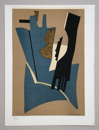 Lithographie Magnelli - Composition - Papier collé 1948