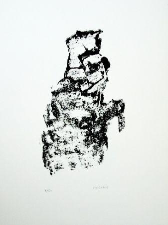 Lithographie Michaux - Composition 115