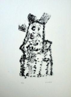 Lithographie Michaux - Composition 116