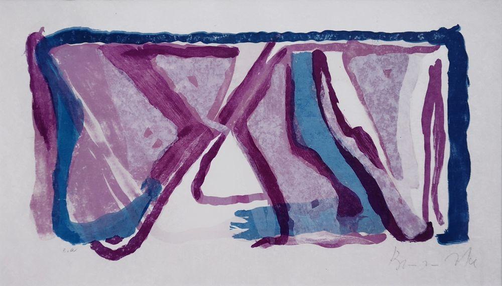 Lithographie Van Velde - Composition 170