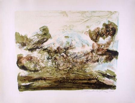 Lithographie Zao - Composition 185